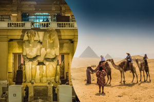 Giza pyramids & Egyptian Musuem day tour