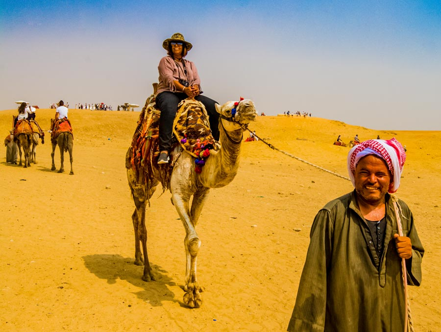 Camel ride in Cairo