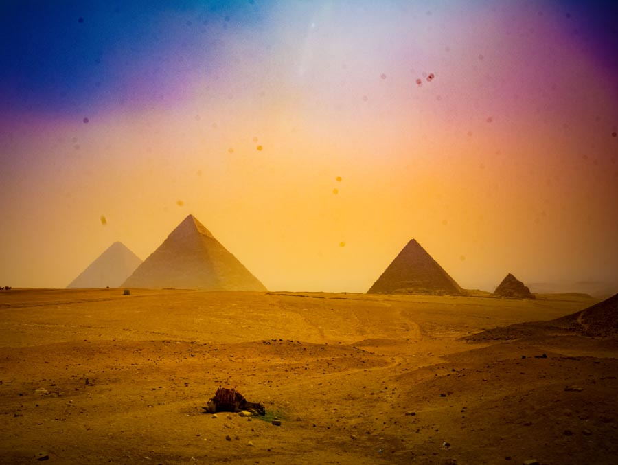 Giza Pyramids Sunset